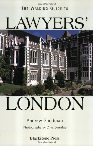 A Walking Guide to Lawyers' London by Andrew Goodman (2000-07-22)