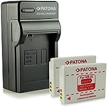 Bundle - 4en1 Cargador + 2x Batería NB-5L para Canon Digital Ixus 90 IS | 800 IS | 850 IS | 860 IS | 870 IS | 900 Ti | 950 IS | 960 IS | 970 IS | 980 IS | 990 IS - PowerShot S100 | S110 | SD770 IS | SD790 IS | SD800 IS | SD850 IS | SD870 IS | SD880 IS | SD890 IS mucho más…
