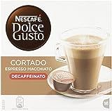 BOX OF NESCAFE DOLCE GUSTO CORTADO DECAF DECAFFEINATED COFFEE PODS