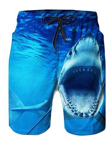 RAISEVERN Quick Dry Swim Trunk für Herren 3D-Druck Grafik Sommer Strand Shorts Surfen Badehose - Grafik Alter Druck