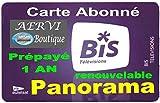 AERVI - CARTE BIS TV PANORAMA (Prépayé 1 an Renouvelable)...