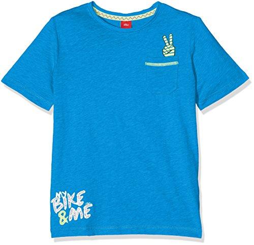 s.Oliver Jungen T-Shirt Kurzarm, Blau (Blue 5527), 116 (Herstellergröße: 116/122) (Junior Kurzarm-shirt)