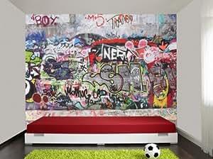 Carta da parati fotografica graffiti 3 carta da parati xxl for Colla da parati