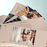 Danksagung für Kommunion, Fototext 200 Karten, Kartenfächer 210x80 inkl. weiße Umschläge, Braun