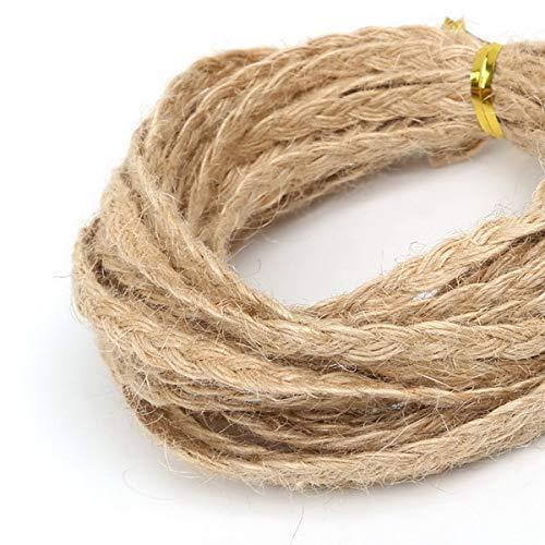 AiCheaX 5 mt/los Natürliche Hanf Jute Schnur Seil String für DIY Halskette Schmuck Handwerk Machen Geschenkverpackung Fallumbau String Handgemachte - (Farbe: Natürliche) (Zoll Hanf-seil 1)