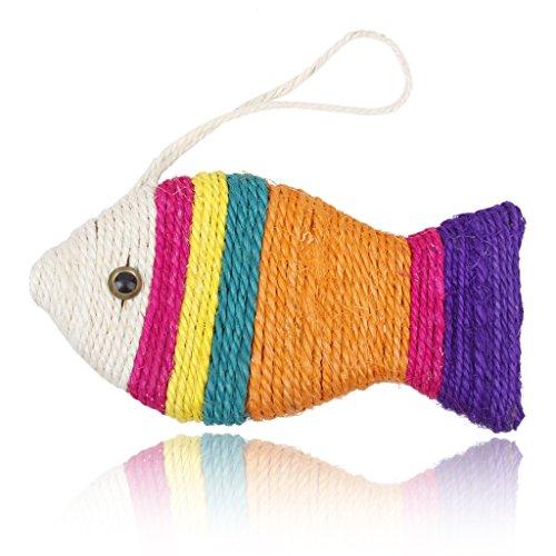 Genérico - Gioco tiragraffi a forma di pesce per gatto