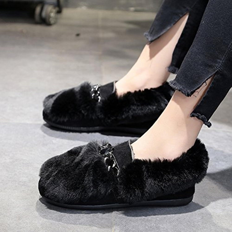 Pois Pois Pois Chaussures Aplaties Pantalons Coton Scoop Chaussures Eacute;tudiants DiaFemmet Chaussures en Peluche Tous les - B077K48J85 - 452221