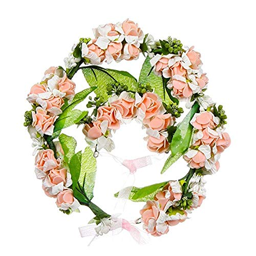 Shuda Blumenkranz + Handblumenanzug Set Blume Bohemia Style Kopfschmuck Haarbänder Stirnbänder...