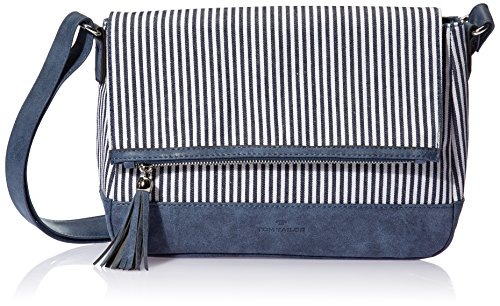 TOM TAILOR Acc Damen Marina Schultertasche, Blau (Blau), 10x22x32 cm (Handtasche Flap Klassische Bag)