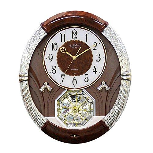 Rhythm Uhren Musical Motion Uhr, Braun, Grau, Weiß (Musikalische Bewegung Uhren)