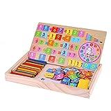 La Cabina Bambou Comptage des Bâtons Coloré et Lettres et Numéro en Bois Boîte d'apprentissage Enfants Préscolaires Mathématiques Jouets Cognitifs Cadeau pour Enfant