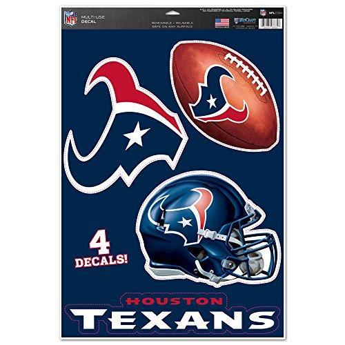 ans Team Logo Helm Fußball Multi Aufkleber 27,9x 43,2cm Neue Mauer Aufkleber NFL ()