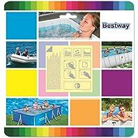 Bestway 62091 - Kit de Reparación Parche Adhesivo Bajo el Agua 10 Unidades