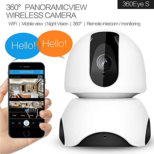 Koeoep S12 Home WiFi IP Camera,720P Wireless Security Camera,Super Wide  180°Viewing Angle,Micro SD Recording,Two Way Audio,Night Vision for