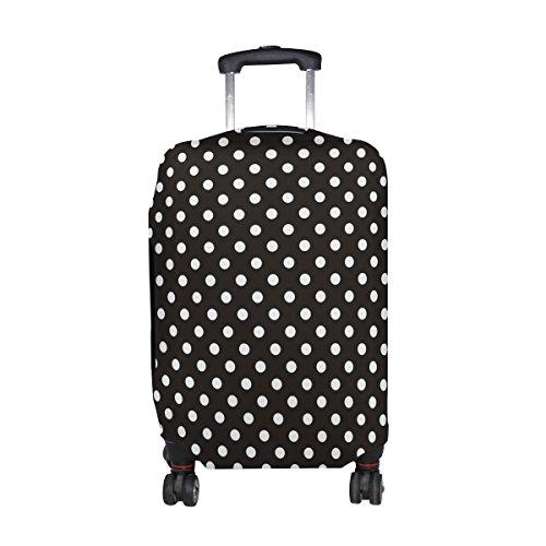 COOSUN Los lunares Imprimir equipaje de viaje cubiertas protectoras lavable Spandex equipaje Maleta Cubierta - Se adapta a 18-32 pulgadas M 23-26 en Multicolor