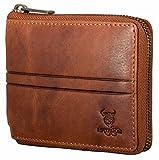 Matador Herren Leder Brieftasche RFID Schutz Antik Braun