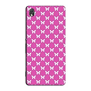 PINK BUTTERFLIES BACK COVER FOR SONY XPERIA Z3