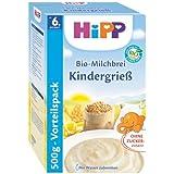 Hipp lait biologique porridge enfants Semoule, 6-pack (6 x 500g)