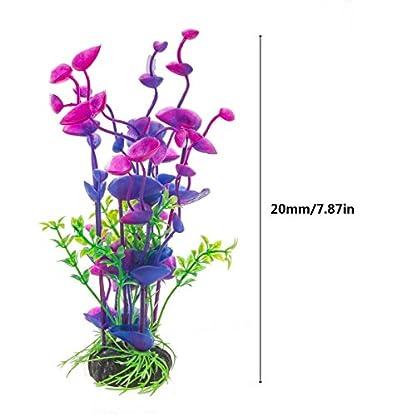 PANYTOW Aquarium Plastic Plants Fish Tank Imitation Sea Urchin Water Aquatic Grass Artificial Plants Decoration for… 4