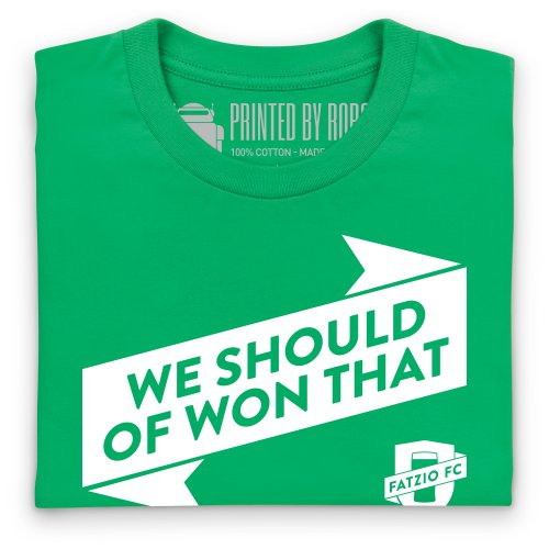 Fatzio FC Should Have Won That T-shirt, Uomo Verde smeraldo