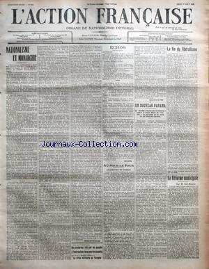 ACTION FRANCAISE (L') [No 214] du 01/08/1912 -...