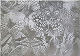 TipTopCarbon Fenster Sichtschutzfolie Milchglasfolie Butterfly 152cm Breite Fensterfolie Design Dekofolie Folie Selbstklebend