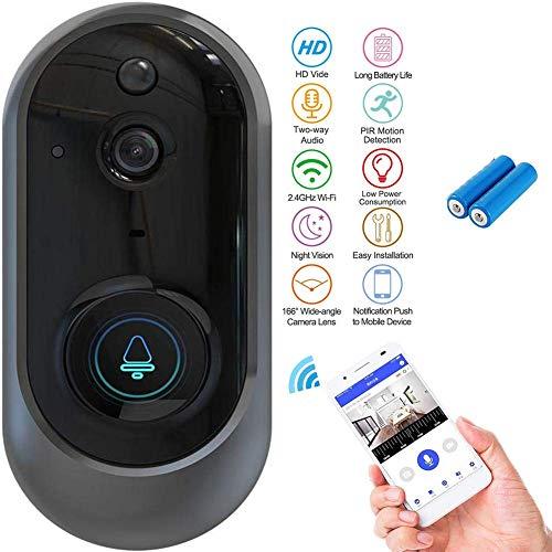 FDURU 720P HD WiFi familienhaus Video Türklingel mit Kamera klingel haustür Batterien Türsprechanlage zweiwegaudio IR APP Fernbedienung Zwei-Wege-gespräch Nachtsicht -