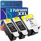 PlatinumSerie® Multipack 3x Patrone XL für Samsung 2x INK-M210/215 Black & 1x INK-C210 Color Samsung CJX-1000 CJX-1050W CJX-2000FW