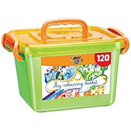 BIC Kids Colouring Box – 60 Matite per Colorare/60 Pennarelli per Colorare