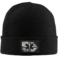 rongxincailiaoke Gorras béisbol American Flag EMS Star of Life EMT Paramedic Medic - Adult Knit Cap Beanies Cap Winter Warm Hat