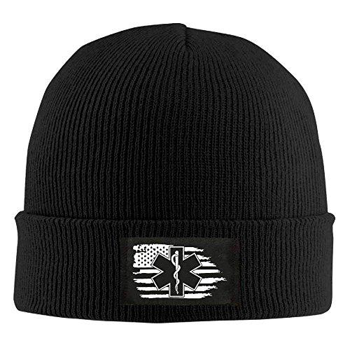 Preisvergleich Produktbild American Flag EMS Star of Life EMT Paramedic Medic - Adult Knit Cap Beanies Cap Winter Warm Hat