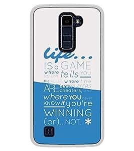 Fuson Designer Back Case Cover for LG K10 :: LG K10 Dual SIM :: LG K10 K420N K430DS K430DSF K430DSY (where no one tells you the rules)
