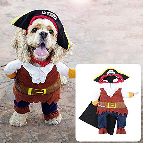 Catkoo Kostüm für Hunde und Katzen, Piraten-Design,
