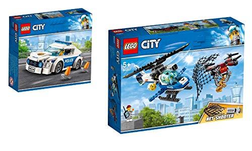 Lego® City 2er Set: 60239 Streifenwagen + 60207 Polizei Drohnenjagd - Ziel City Lego
