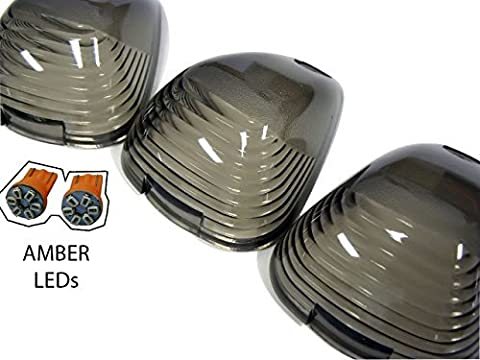 Cab Roof Lights 5 Five Piece pc COVERS in SMOKE