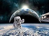 azutura Astronautenraum Fototapete Planet Erde Tapete Jungen Schlafzimmer Haus Dekor Erhältlich in 8 Größen Riesig Digital