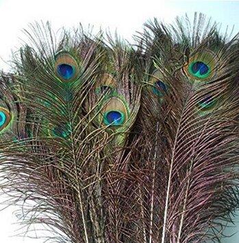 Edealing Queue de paon 100PCS yeux Feather pour la robe de partie de mascarade Décoration Accessoire