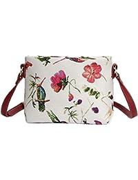 Borsetta donna Signare alla moda in tessuto stile arazzo a spalla borsa  messenger a tracolla floreale 987026e117d