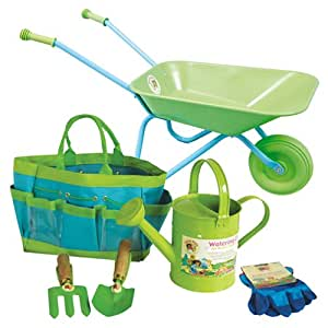 Little pals wheelbarrow gardening tool set for Gardening tools on amazon