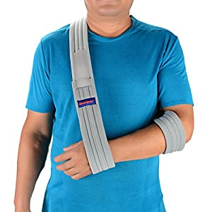 Arm Sling Shoulder Immobilizer- Adjustable Arm Support Strap for Broken Arm Immobilizer