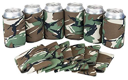 arbige Bierkugeln für Dosen und Flaschen - Bulk Blanko Getränkekühler - DIY Custom Hochzeit Favor, lustiges Partygeschenk camouflage ()