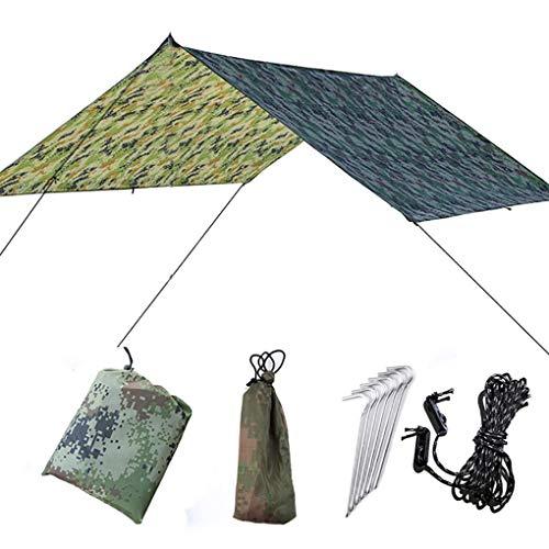 Morelyfish Außen Große Überdachung Sonnenschutz Strand Camping-Zelt wasserdichte Bodenmatte Feuchtigkeitsbeständig Pad