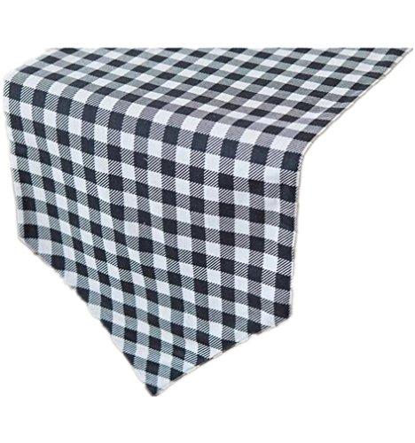 PLYY Tischläufer Natürliche hessischen Tischläufer ohne Quasten schwarz/weiß kariert Gobelin Tisch für Esszimmer Tisch Dekor mehrere Größen, 30 * 220cm - Schwarzer Esszimmer Tisch