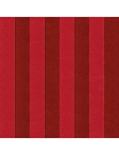 Polsterstoff Möbelstoff Bezugsstoff Meterware für Stühle, Eckbänke, etc. - Magic Design Rot Gestreift Baumwolle Schwer entflammbar- Muster