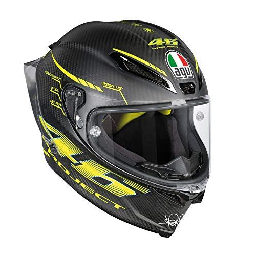 AGV Casco Moto Pista Gp R E2205 Top PLK, Matt Carbon, S