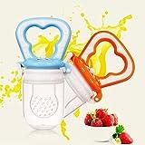 Säuglingsflasche für Babynahrung in Schnullerform, Silikon-Netz für Obst und Gemüse, Größe M, 1Stück