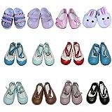 ZITA ELEMENT® Ensemble 4 Paires Chaussures Modèle Aléatoire Pour 14-16pouces Poupée American Fille