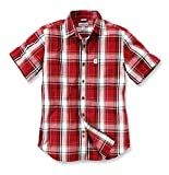 Carhartt Plaid Short Sleeve Shirt 102548, Farbe:rot, Größe:XXL
