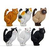 KingbeefLIU 1pc Cartoon Sorridente Gatti Gattino Figurine Frigorifero Magnete Adesivo Decorazioni per La Casa Assemblato Desktop Piccoli Ornamenti Regali di Natale per Bambini Nero Bianco