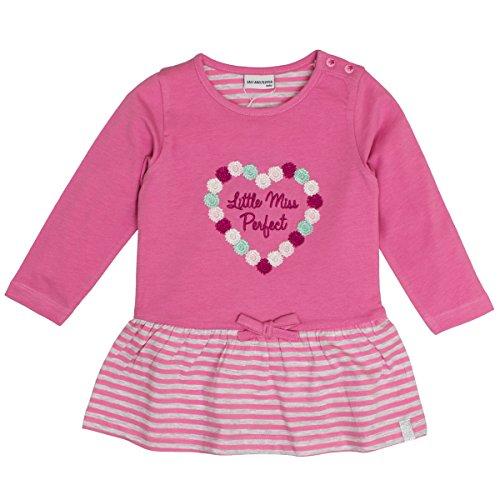 SALT AND PEPPER Baby-Mädchen Kleid B Dress Princess Stripe, Pink (Fuchsia Melange 839), 68 Preisvergleich